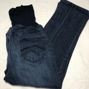 Oh Baby crop maternity jeans, size XL